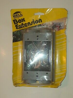 Bell GRAY 6-Outlet Weatherproof Outdoor Box Extension Adapter 5400-0 502413