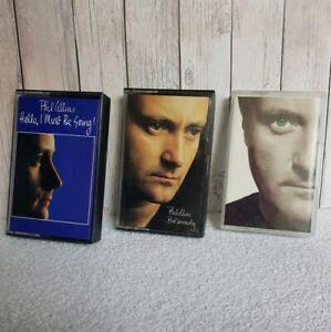 Bundle-3x-Vintage-PHIL-COLLINS-Cassette-Tapes-Face-Value-But-Seriously-Hel
