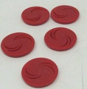 U.S on Red Plastic Button