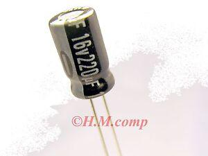 16V-220uF-105-C-electrolytic-radial-Capacitor-X-5pcs