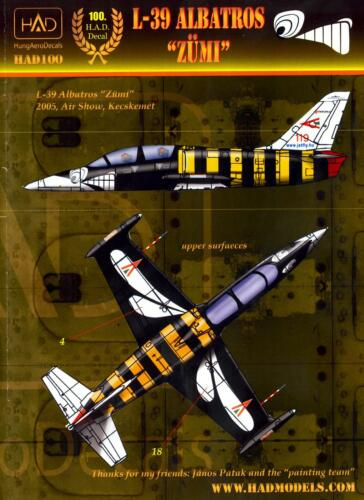 "Hungarian Aero Decals 1//48 AERO L-39 ALBATROS /""ZUMI/"" 2005 Kecskemet Air Show"