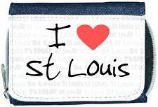 I Love Heart St Louis Denim Wallet