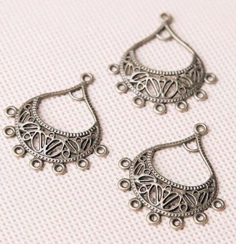 2 pairs-9 loops brass tone earring connector,bohemian earring loop 4pcs