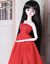 1//3 SD BJD Clothes Red Full Dress Dinner Dress Suit AOD LUTS DZ DF for BJD Doll