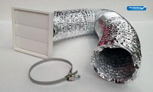 Cooker Hood Kit Gravity Flap Vent Duct Kitchen Fan Extractor 100mm 125mm 150mm Ebay