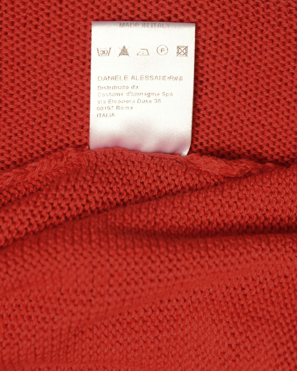 Maglia Daniele Alessandrini Sweater Cotone MADE MADE MADE IN ITALY Uomo Rosso FMCL73701 9 298c84