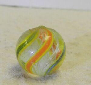 9840m-Vintage-German-Handmade-White-Latticino-Swirl-Marble-57-Inches
