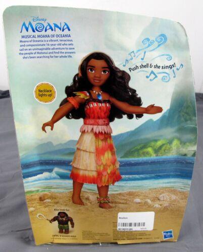 Hasbro Disney Musical Moana of Oceania w// Light Up Necklace Sings How Far Ill Go