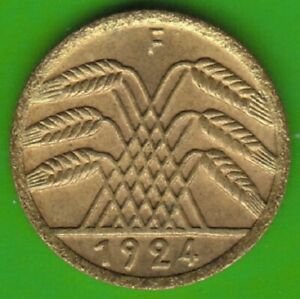 5-Pension-Penny-1924-F-Better-Than-XF-Good-nswleipzig