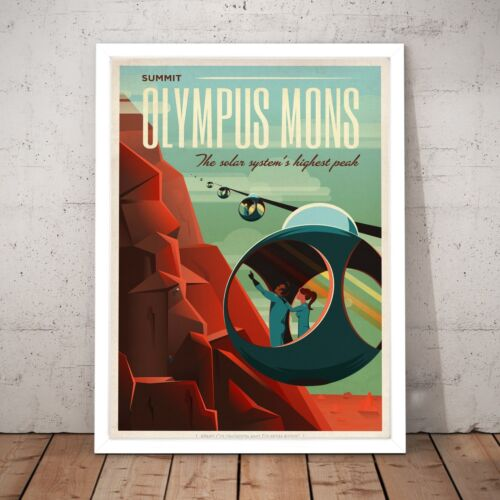 A3 A2 A1 A0 Framed Space NASA Olympus Mons Gift Present Decor Art Poster Print