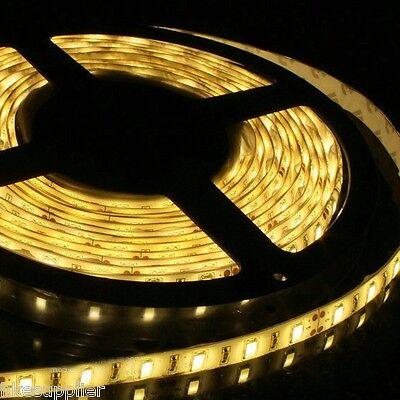 5M 5630 Warm White Waterproof SMD LED Strips Lights 300Leds Super Bright 12V