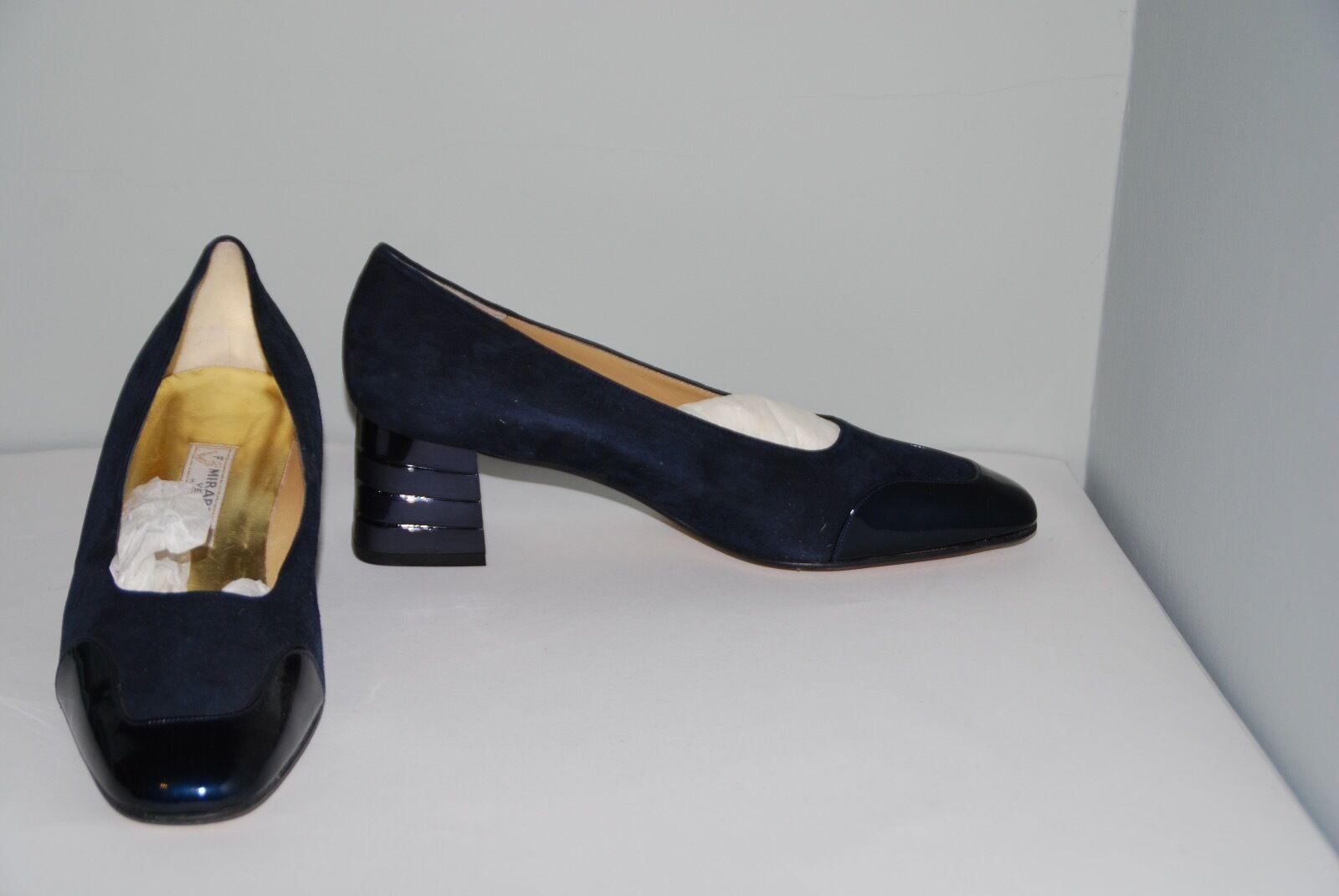 vendita online Da Donna Donna Donna Blu Camoscio & pelle verniciata Corte Scarpe da Mirabelle ITALIA 40.5  protezione post-vendita