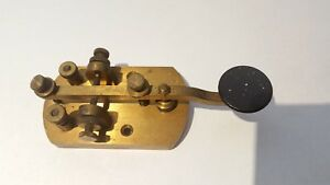 Details about VERY RARE Signal Electric Mfg Antique Brass Morse Code  Telegraph Key Ham Radio