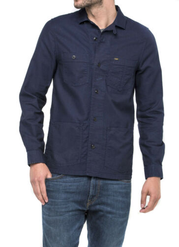 Navy Button Overshirt Xl Down Explore Sale £90 In Rrp Blue Worker Jacket Lee wfFqYpt