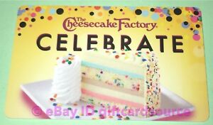 Phenomenal The Cheesecake Factory Gift Card Birthday Cake Celebrate No Funny Birthday Cards Online Alyptdamsfinfo