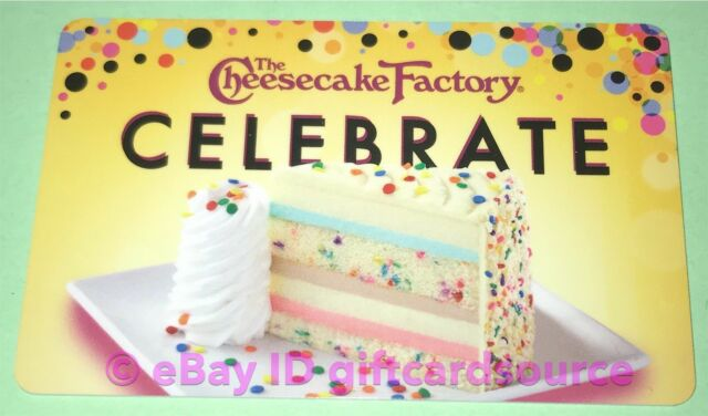 Amazing The Cheesecake Factory Gift Card For Sale Online Ebay Funny Birthday Cards Online Barepcheapnameinfo