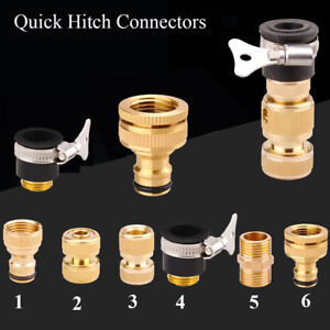 Equipment-Brass-Quick-Hitch-Connectors-Tap-Adapter-Irrigation-Hose-Connector