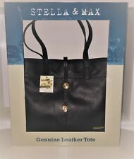 item 3 Stella and Max Genuine Leather Zip Tote Hand Bag Black New In Box - Stella and Max Genuine Leather Zip Tote Hand Bag Black New In Box b28e5ef3552fc