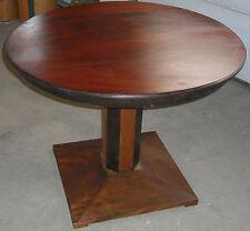 beistell salon tisch rund alt antik  beistelltisch salontisch  hartholz top deko