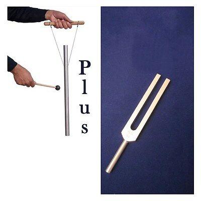 "528 Hz Tuning Fork & 528 Hz 21"" Pipe for sound healing -part of Solfeggio"
