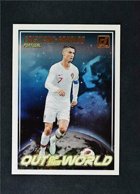 2018-19 Donruss Out of this World #10 Cristiano Ronaldo Portugal Soccer Card