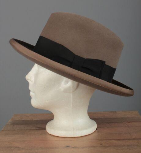 Men's 1940s Borsalino Homburg sz 7 1/8 40s Vtg Fed
