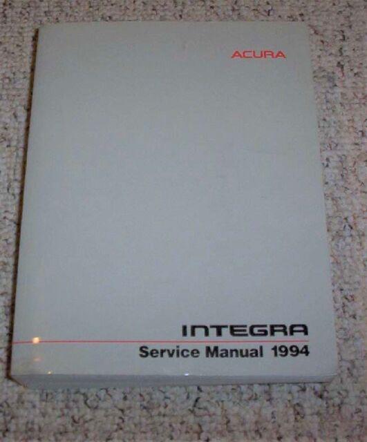 1994 Acura Integra Coupe Sedan Shop Service Repair Manual