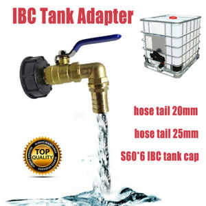"""IBC Kugelauslaufhahn 3//4/""""Adapter und Hahn Kappe S60x6 Tank Regenwasser Container"""