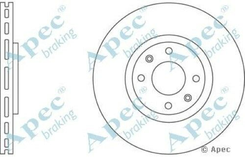 1x OE Quality Replacement Front Axle Apec Vented Brake Disc 4 Stud 302mm Single