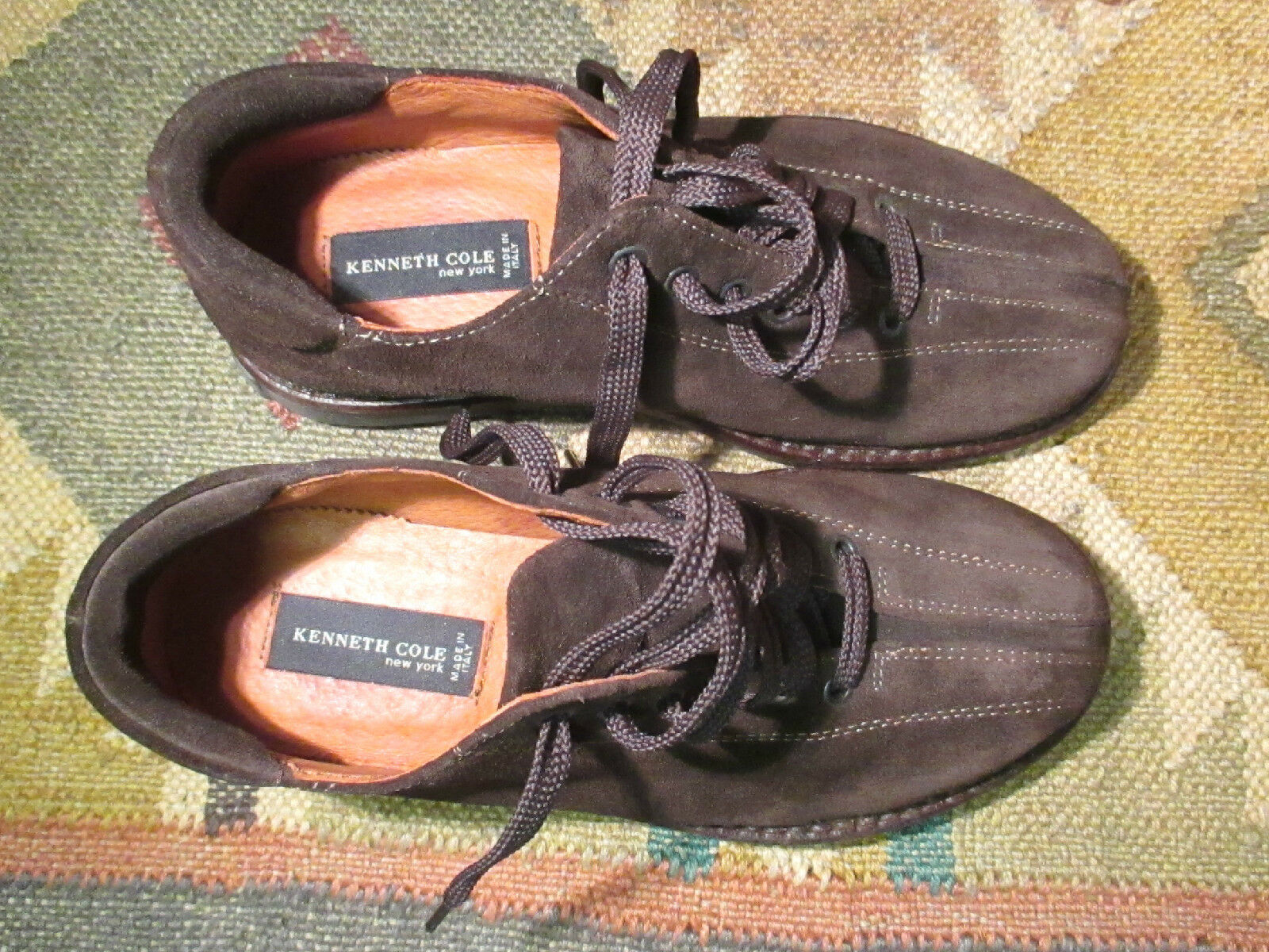 NEW KENNETH BROWN COLE Made in  BROWN KENNETH SUEDE CASUAL Schuhe SIZE EU - 39.5 d04ccd