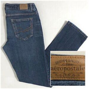Talla 7 8 Corto Para Mujer Aeropostale Bayla Skinny Leg Jeans Pantalones Vaquero Oscuro 30x29 Ebay