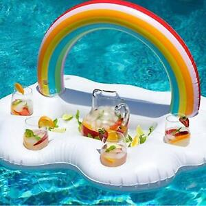 Details about Inflatable Drink Holder Floating Beverage Bar Swimming Pool  Party & Water Fun