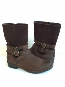 f5f47b4193e Details about UGG LORNA COCONUT SHELL WATERPROOF LEATHER BOOTS US 9 / EU 40  / UK 7 -NEW
