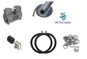 DIYPondPro-LARGE-Pond-Aerator-System-w-50-039-WTD-Hose-2-4-039-RING-Diffusers-FREE-S-amp-H