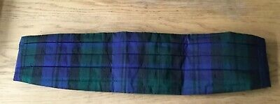 Austin Reed Pure Silk Cummerbund Woven Plaid Scottish Pattern Mens Evening Wear Ebay