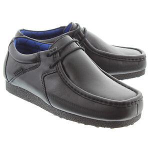 Deakins-Ninos-Fuego-Cruzado-Negro-Zapatos-de-colegio