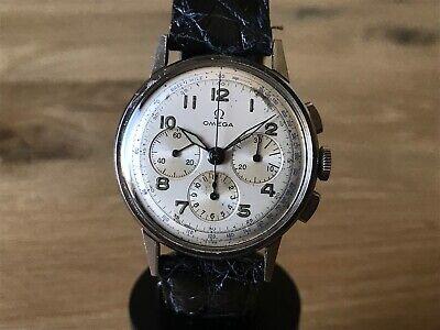 Reloj OMEGA Vintage Stainless Steel Wrist Watch Swiss Chrono Leather Strap | eBay