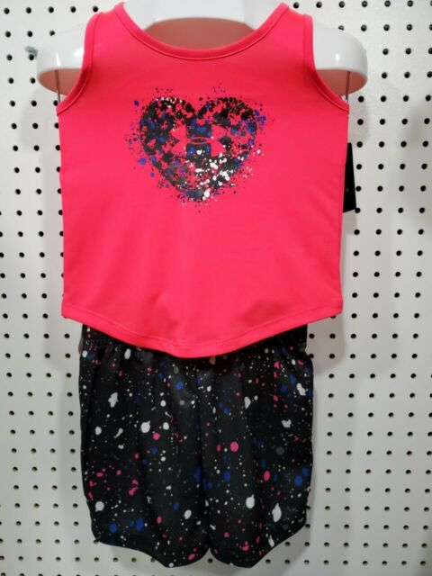 Girl/'s Under Armour Set 18M Pink Black Polyester