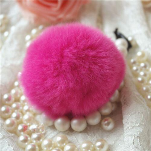 6cm//7cm//8cm Luxury Lovely DIY Soft Real Rabbit Fur Ball Handbag Key Chain Phone