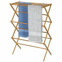 Household Essentials Folding Clothes Drying Rack, Bamboo , New, Free Shipping on sale