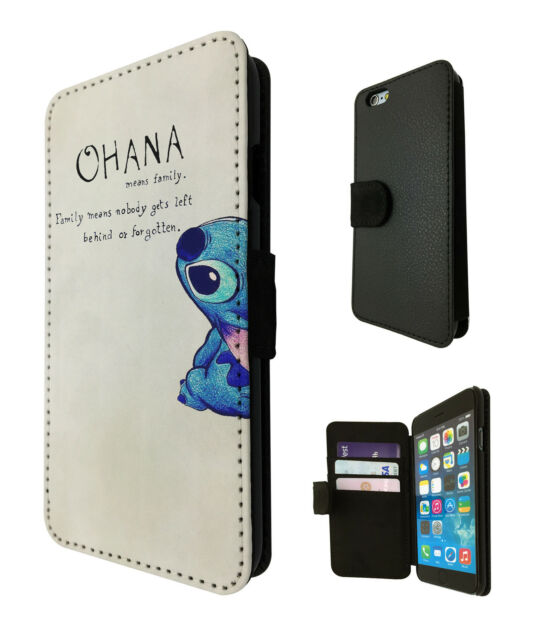 Ohana Family Quote Cute Case Flip Cover For iphone 5 SE 5 5C 6 6S /6S Plus