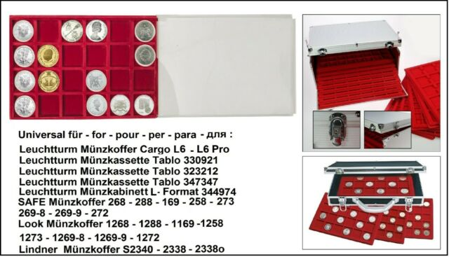 Look 12330-24-46 coin trays 24x 46 mm + Schutz-Protector For US Dollar IN Caps