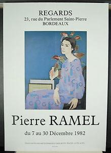 Pierre Ramel Regards décembre 1982 Bordeaux affiche d'exposition UWtKsVSs-09164021-758990561