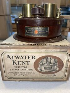 """Atwater Kent Detector 2 Stage Amplifier For Breadboard Radio In Original Box"""""""