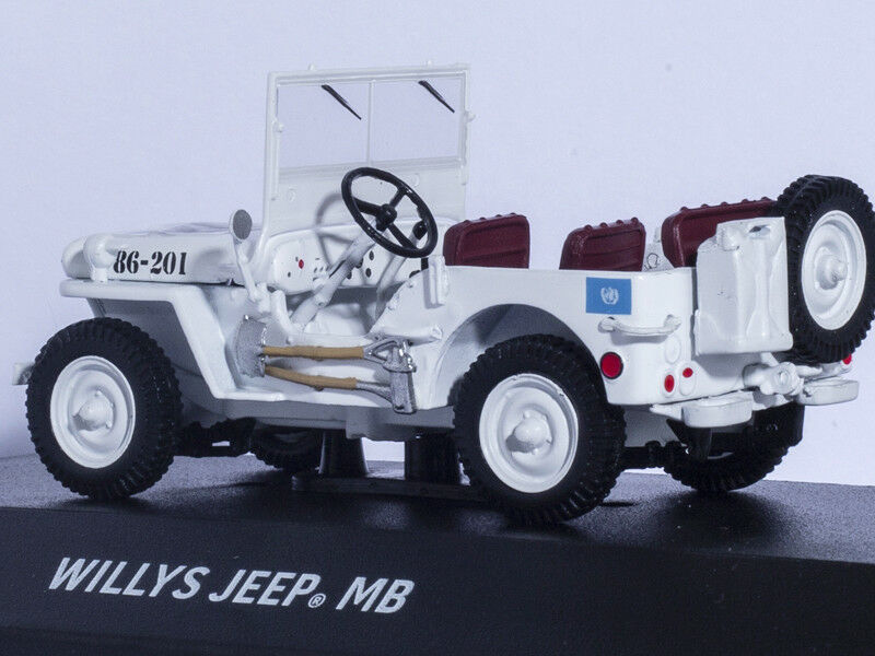 WILLYS JEEP MB UN UNITED NATIONS UNIES 1 43 vertlight Diecast Car Model Limited