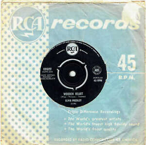 ELVIS-PRESLEY-WOODEN-HEART-7-034-45-VINYL-RECORD-1961