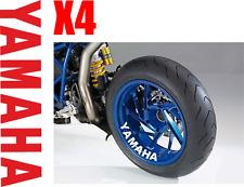 4x Yamaha YZF R1 R6 MT FJR FZ FJ FZ6 Wheel Rim Sticker Decal Motorcycle Vinyl