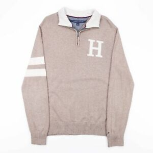 Tommy Hilfiger braun 00s 1/4 Zip Pullover Herren M