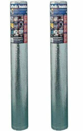 "2 Pack NASATEK 48/""x10/' Foil Insulation Double Bubble Reflective Insulation"