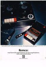 PUBLICITE  1972    REMCO   magnétophone